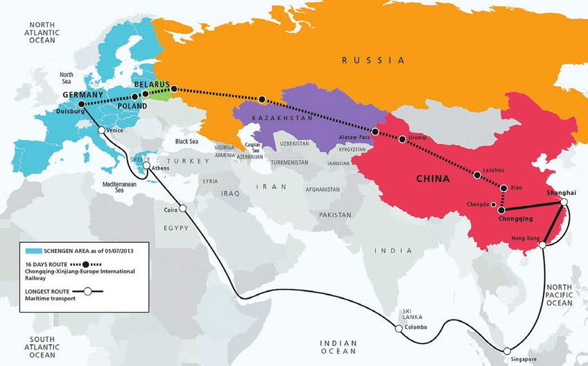 Railway Shipping from China to Central Asia